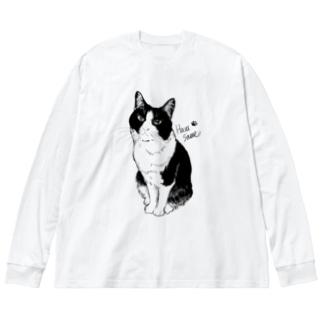 おすましはるさめ Big silhouette long sleeve T-shirts