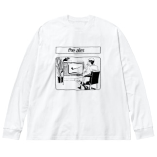 the alles  KONSUM PRODUKTのS.N.S.O.D. Big silhouette long sleeve T-shirts