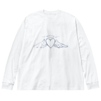 heart Big silhouette long sleeve T-shirts