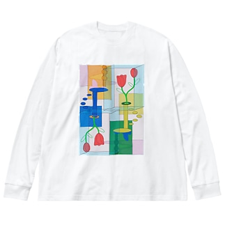 非対称 Big silhouette long sleeve T-shirts