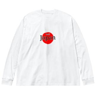 ボッチ日本代表 Big silhouette long sleeve T-shirts
