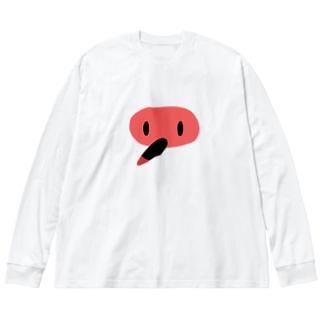 にっぽにあにっぽん Big silhouette long sleeve T-shirts