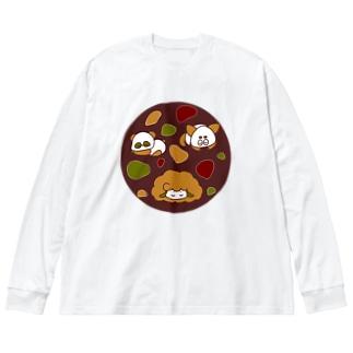 すいみん の あき Big silhouette long sleeve T-shirts