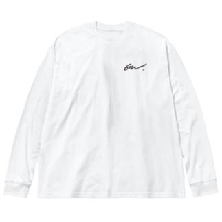 音無むおん⚡ショップSUZURI店の音無むおん タイプB ビッグシルエットロングスリーブTシャツ Big silhouette long sleeve T-shirts