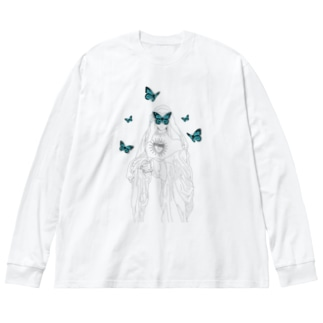 Butterfly Nun Big silhouette long sleeve T-shirts
