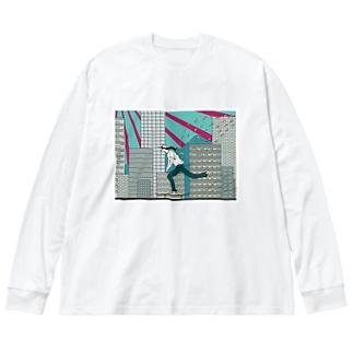 スケーター Big silhouette long sleeve T-shirts