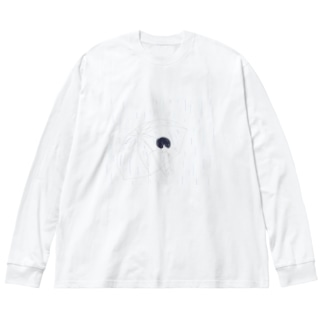 雨と煙草 Big silhouette long sleeve T-shirts