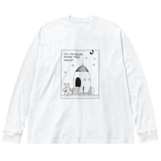 何にでもなれる Big silhouette long sleeve T-shirts