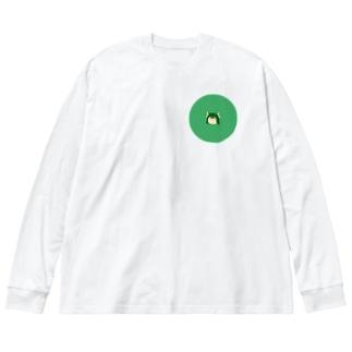 那渚 Big silhouette long sleeve T-shirts