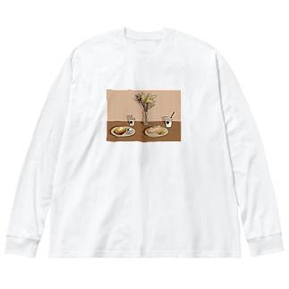 美味しい思い出 Big silhouette long sleeve T-shirts