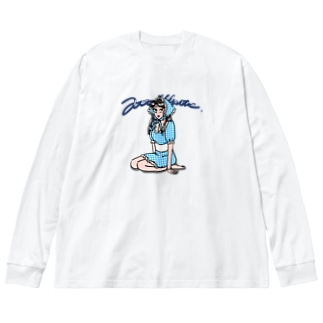 あとゐのロリ子チャン Big silhouette long sleeve T-shirts