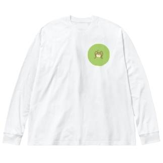 閃藍 Big silhouette long sleeve T-shirts