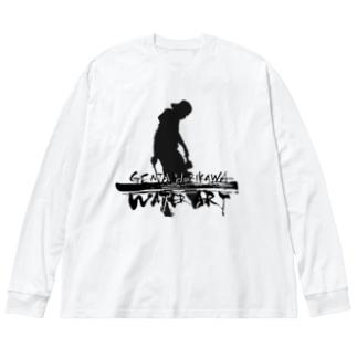 ロゴ入り Big silhouette long sleeve T-shirts
