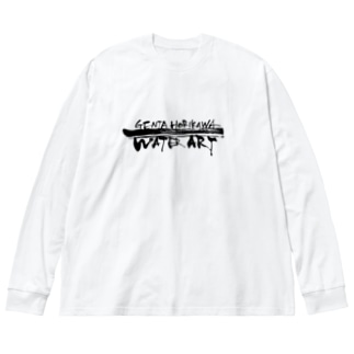 ロゴ文字入り Big silhouette long sleeve T-shirts