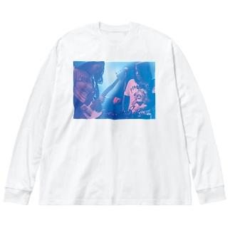 ヨーロピアンクラッチ  フォトTシャツ Big silhouette long sleeve T-shirts