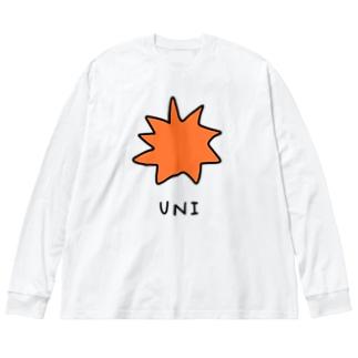 ウニ Big silhouette long sleeve T-shirts