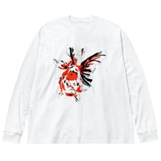東錦-白用- Big silhouette long sleeve T-shirts