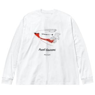 パールグラミーオス(発情中) Big silhouette long sleeve T-shirts