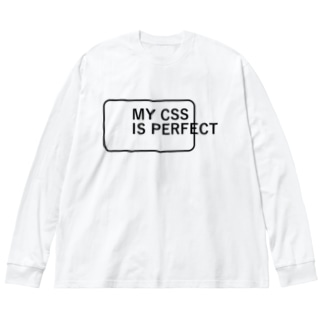 MY CSS IS PERFECT-CSS完全に理解した-英語バージョンロゴ Big silhouette long sleeve T-shirts