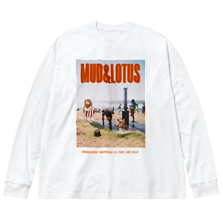 BEACH-BIG LONG TEE Big silhouette long sleeve T-shirts