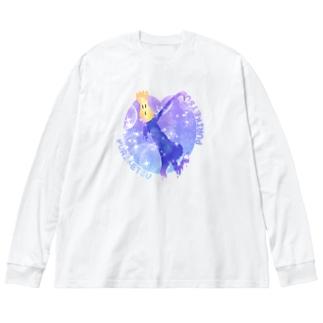 ゆめかわプリケツワンダーランド Big silhouette long sleeve T-shirts