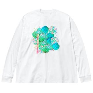 青リンゴ Big silhouette long sleeve T-shirts