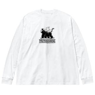 D.evil brith - color Big silhouette long sleeve T-shirts