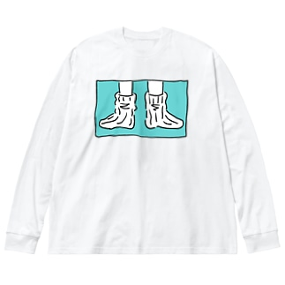 ヨレヨレソックスどうでしょう Big silhouette long sleeve T-shirts