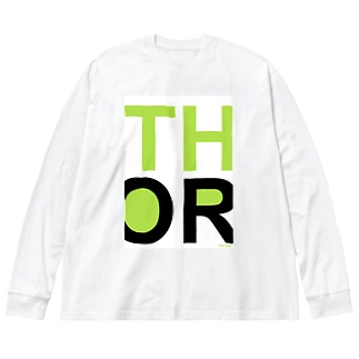 THE OR ビッグシルエットロングスリーブTシャツ1 Big silhouette long sleeve T-shirts