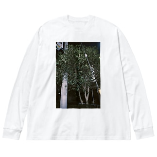 銀木犀 Big silhouette long sleeve T-shirts
