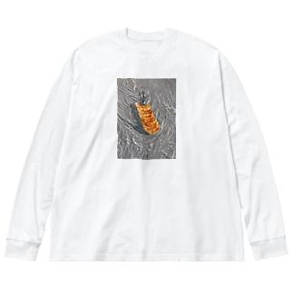 flowing gyoza Big silhouette long sleeve T-shirts
