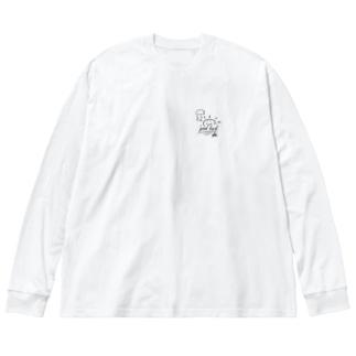 幸運を祈るsun-ビッグシルエットロンT 白 Big silhouette long sleeve T-shirts