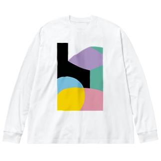 BIG ロング ゴロT/a_005(トリミングシリーズ) Big silhouette long sleeve T-shirts