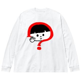シロクロ君とあお目ねこ Big Long Sleeve T-shirt