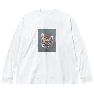 虎の仔2020 Big silhouette long sleeve T-shirts