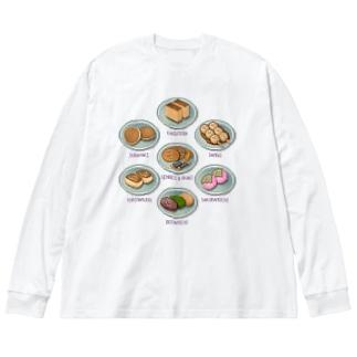 WAGASHI_2 Big silhouette long sleeve T-shirts