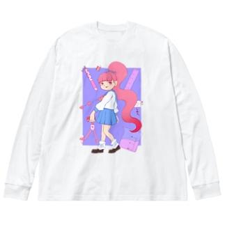 愛を教えてくれ〜🥱💭💓💗💖 Big Long Sleeve T-shirt