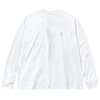 ぴぽ Big silhouette long sleeve T-shirts