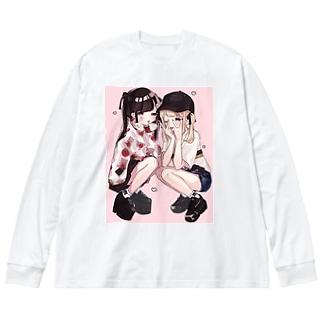 にこいち🎀 Big silhouette long sleeve T-shirts