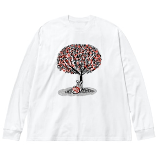【エポッくん】エモのお昼寝 Big silhouette long sleeve T-shirts