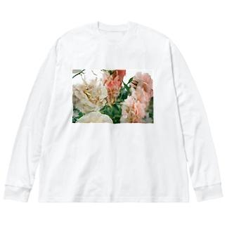 花のワルツ Big silhouette long sleeve T-shirts