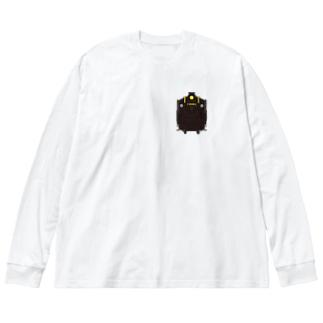 パレオエクスプレス ミニ Big silhouette long sleeve T-shirts
