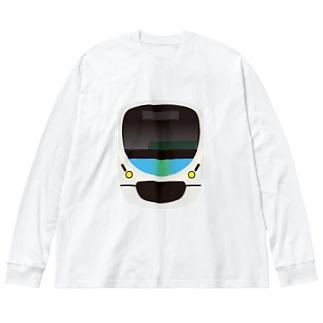 西武鉄道 スマイルトレイン Big silhouette long sleeve T-shirts