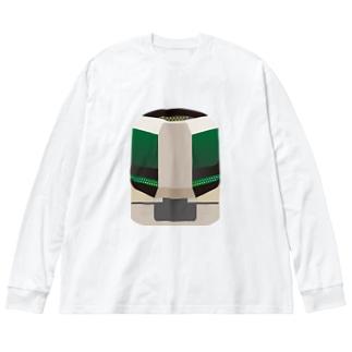 東武鉄道 特急リバティ Big silhouette long sleeve T-shirts
