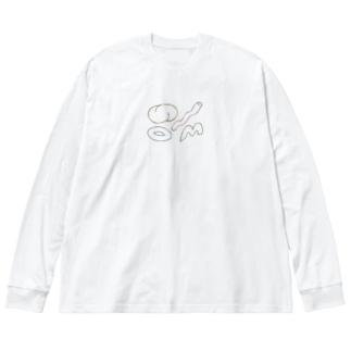 katachi.ロンT Big silhouette long sleeve T-shirts