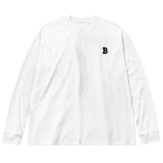 ₿ Big silhouette long sleeve T-shirts