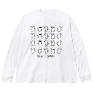 NEKO DANCE Big silhouette long sleeve T-shirts