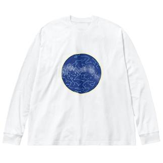 秋の星座 Big silhouette long sleeve T-shirts