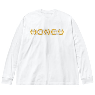 Honeycomb Big silhouette long sleeve T-shirts