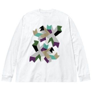 BIG ロング ゴロT/d_007(トリミングシリーズ) Big silhouette long sleeve T-shirts